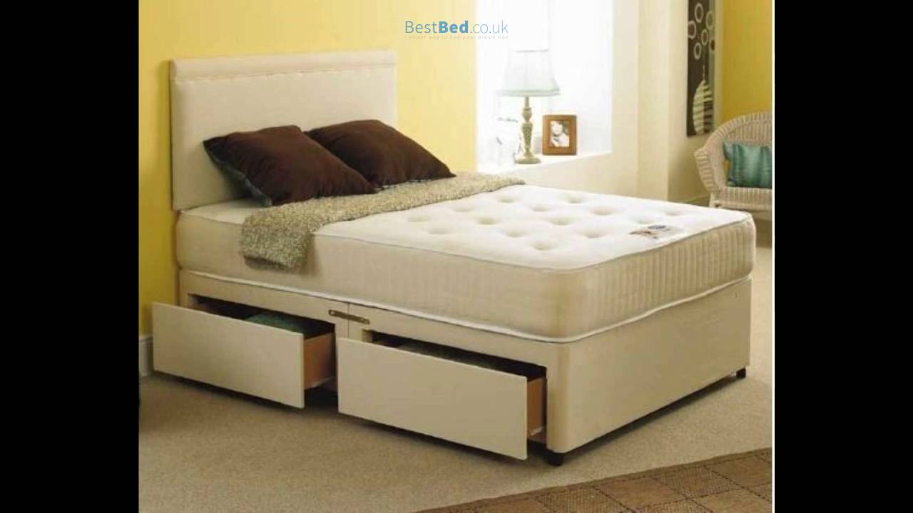 Bali 2ft 6in Single Divan Bed And Orthopaedic Mattress In Stone Suede