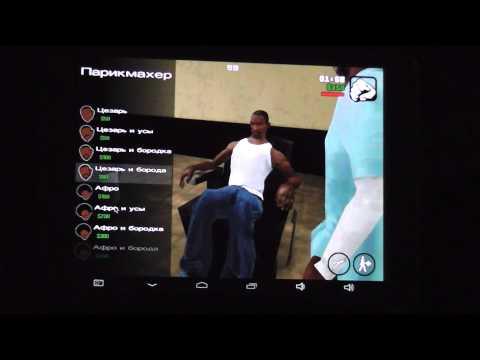 GTA San Andreas на Chuwi V88 геймплей с FPS Meter