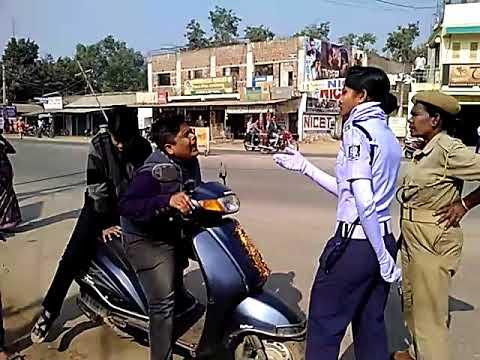 traffic police vs comdey boy