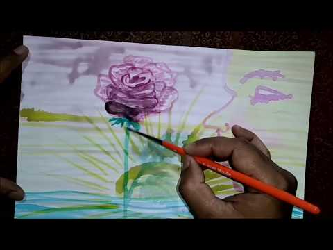 Easy watercolour painting demo – Rising Sun – for beginners – kalpri art