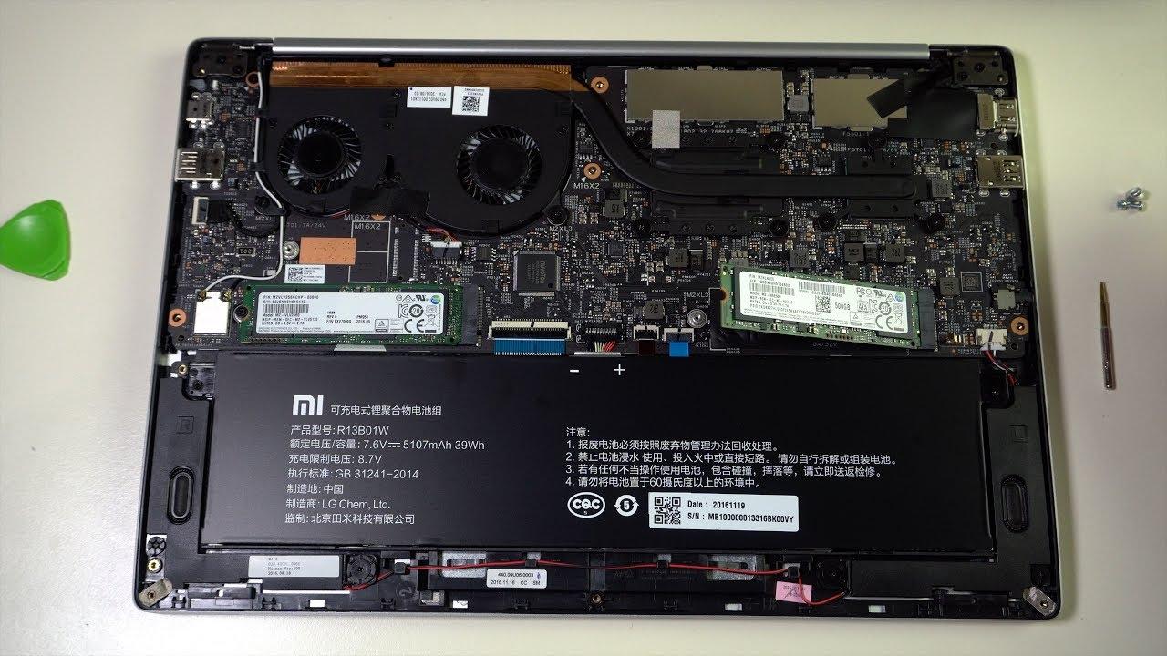 Ustanovka Vtorogo Ssd V Xiaomi Mibook Air 13 Two Ssd To Xiaomi