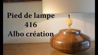 TOURNAGE PIED DE LAMPE EN BOIS D'IPE