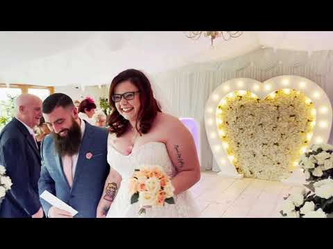 Kim and Tino Wedding in the Marquee at Ridgeway