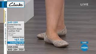 Clarks Womens Gracelin Maze Ballet Flat