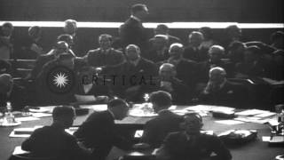 France PM Pierre Laval,British Foreign Secretary Anthony Eden and Russian Foreign...HD Stock Footage