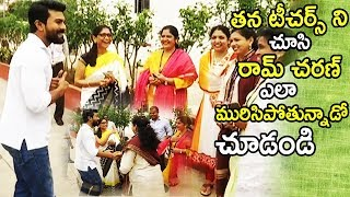 See How Ramcharan Acting In front Of His Teachers | Independence Day Celebrations | Tollywood Book