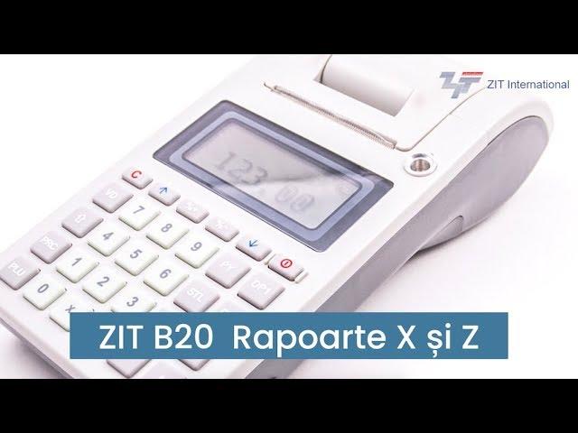 ZIT B20 - Rapoarte X si Z