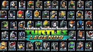 ВСЕ ГЕРОИ игры Черепашки ниндзя Легенды (Teenage Mutant Ninja Turtles Legends) бой всех героев TMNT