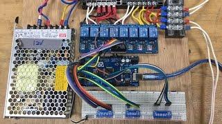 電控基礎及利用Arduino做直流馬達正反轉與極限開關之控制兼備交流電源開關