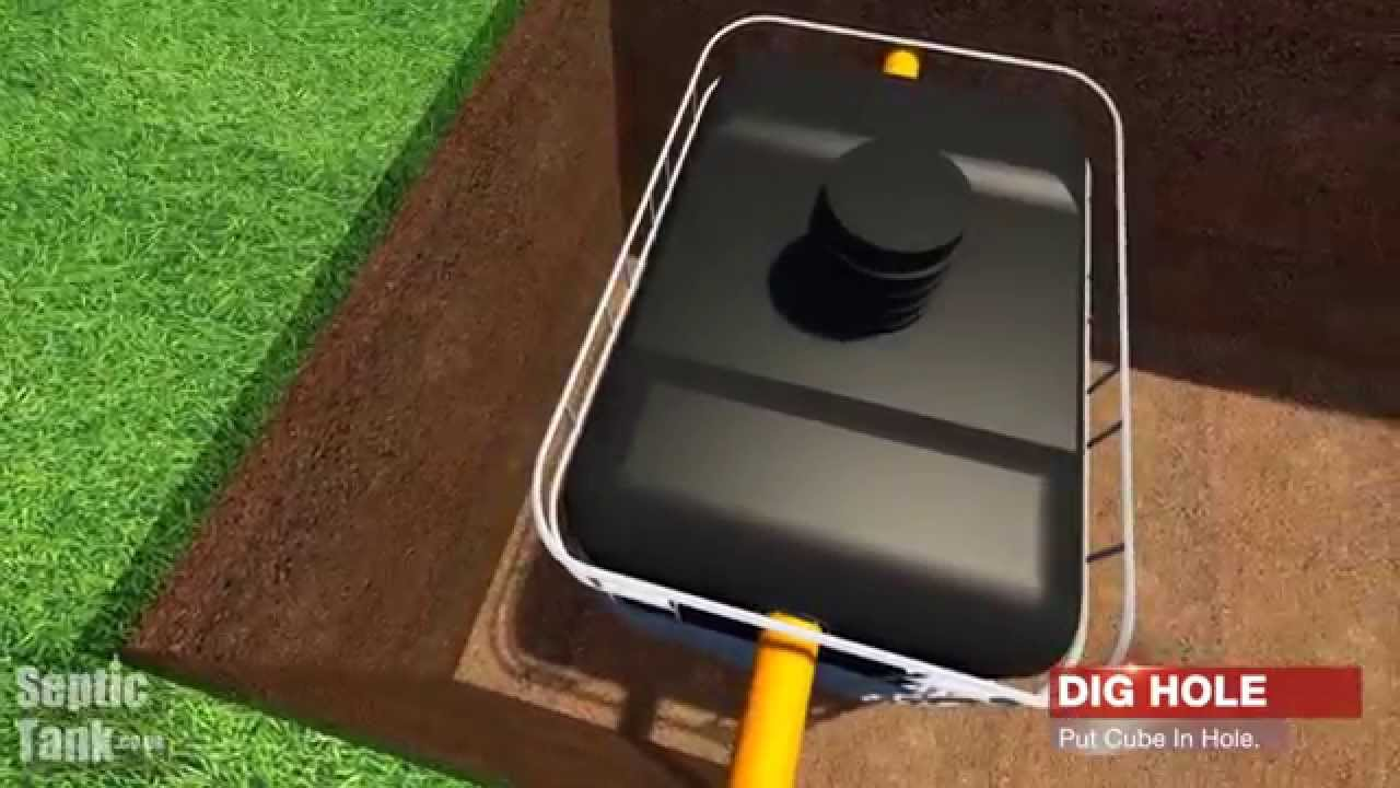 The device of a septic tank from eurocubes the hands 38
