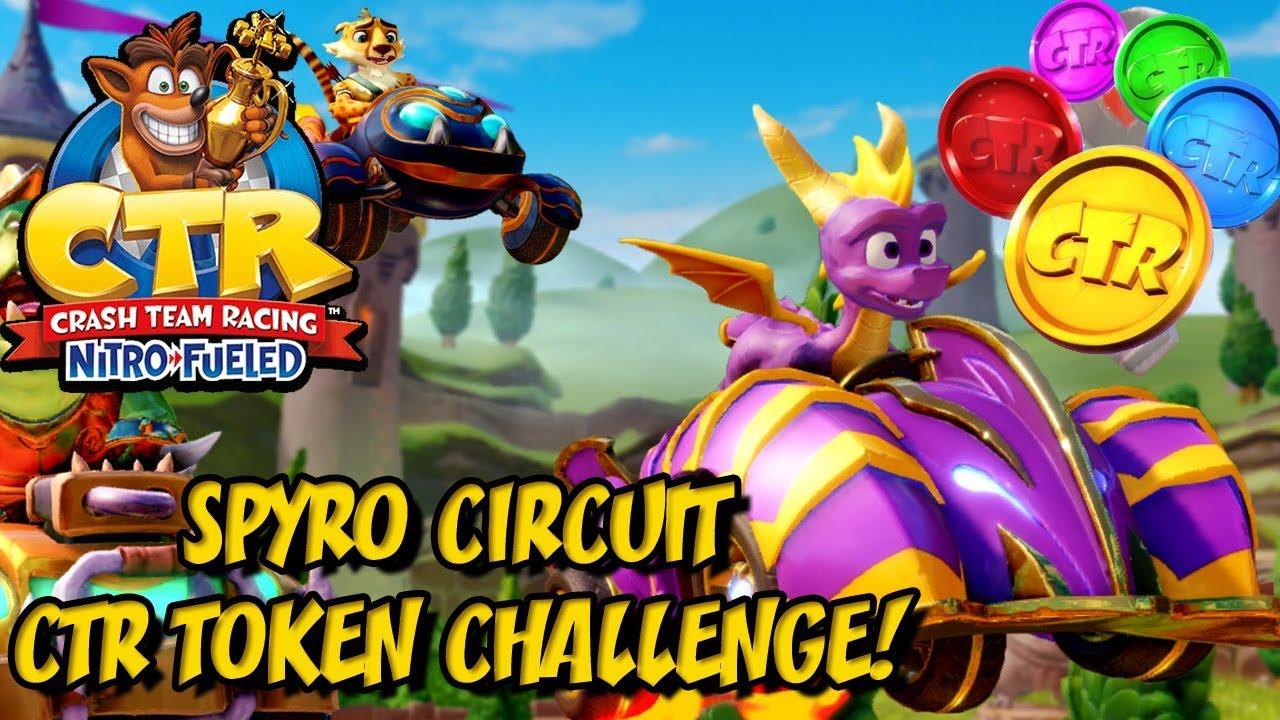 Crash Team Racing Nitro Fueled - Spyro Circuit CTR Token Challenge!