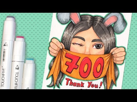 700 Subscribers Special【Drawing Myself ✨ Touchfive Markers Art】