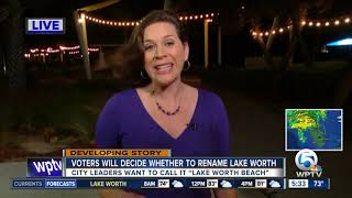 Voters to decide on possible name change to Lake Worth
