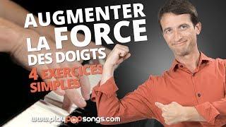 PLUS DE FORCE DANS LES DOIGTS POUR MIEUX JOUER AU PIANO