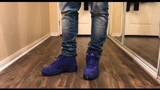 Jordan 12 Deep Royal Blue W/ on foot Review - YouTube