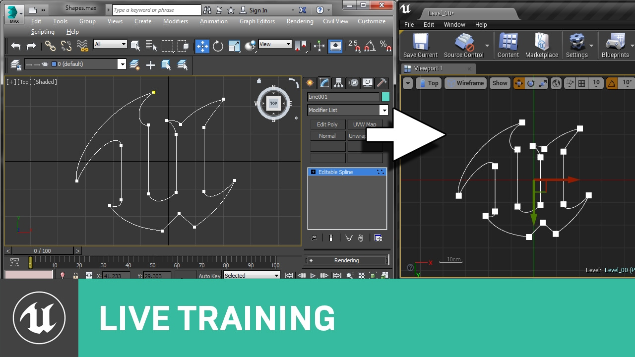 Spline importing live training unreal engine youtube spline importing live training unreal engine malvernweather Choice Image