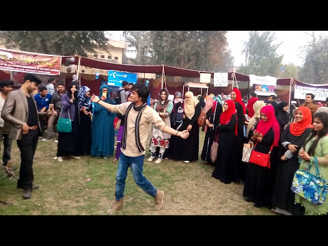 Cultural dance at GC University faisalabad by GB Student