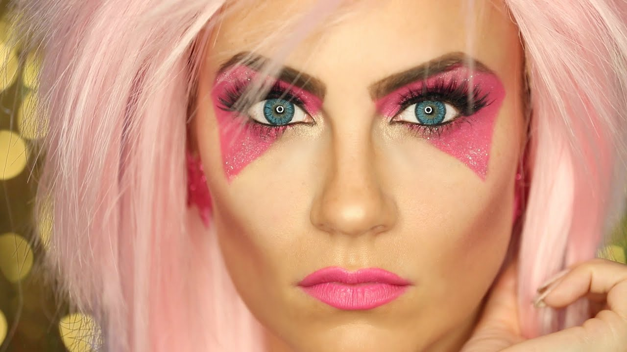 jem and the holograms halloween makeup tutorial