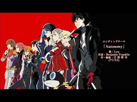 Persona 5 the Animation Ending 2 Theme - Autonomy