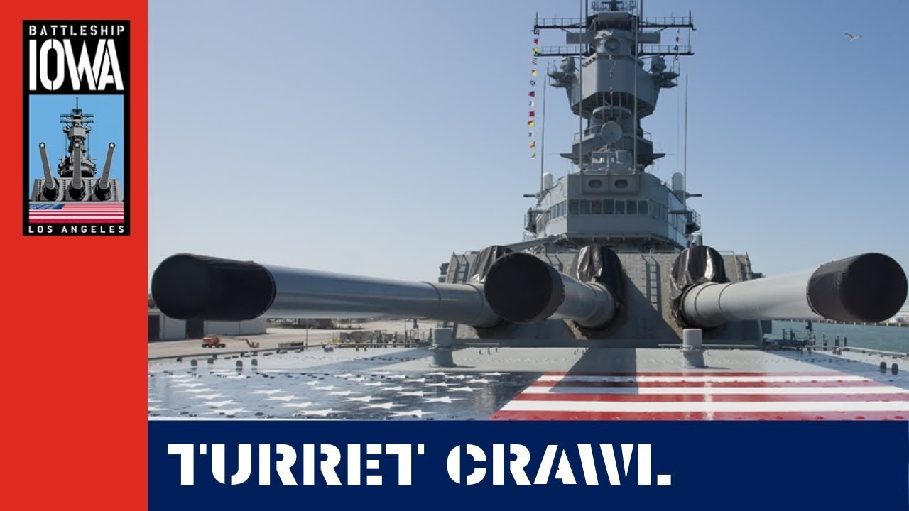 hight resolution of turret crawl on navy battleship