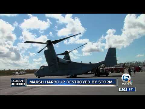 Marsh Harbour destroyed by storm