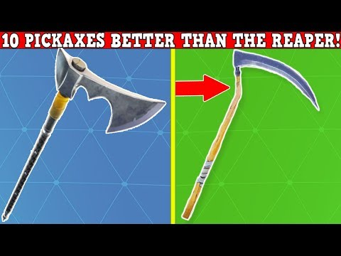 10 PICKAXES That Are Better Than The *REAPER PICKAXE* | Fortnite Battle Royale!