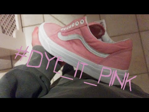 da27c53f83924b How To Custom Dye Vans Oldskools - YouTube