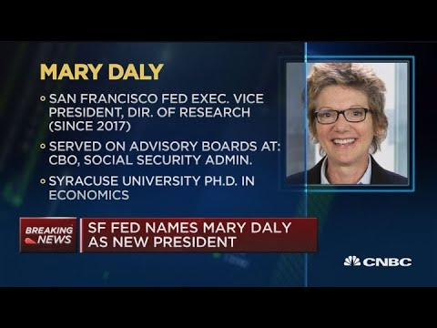 SF Fed names Mary Daly as new president, to take office on Oct. 1