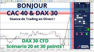 # DAX30 CFD - Séance de TRADING en DIRECT - Bonjour CAC40 & DAX30 le 12/04