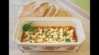Греческая закуска!!! Креветки запечённые с сыром Фета (по-критски)!!!