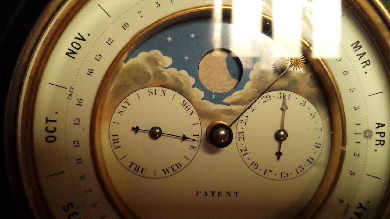 Perpetual Calendar Clock French Antique Youtube