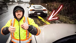 Lamborghini Huracan TOWING BROKEN Mercedes-Benz *2,800 LBS TOWING CAPACITY*