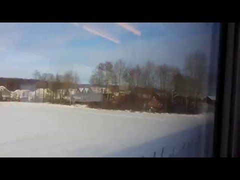On the way by train from Sandefjord to Oslo, Norway, 2016 01 19