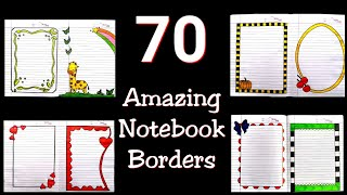 70 compilation of beautiful notebook borders for projects handmade| simple border designs on paper|