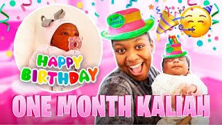 BABY KALIAH 1 MONTH BIRTHDAY PARTY!