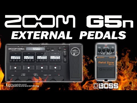 ZOOM G5n External Pedals - BOSS MT-2 Metal Zone Distortion [Patch Settings].