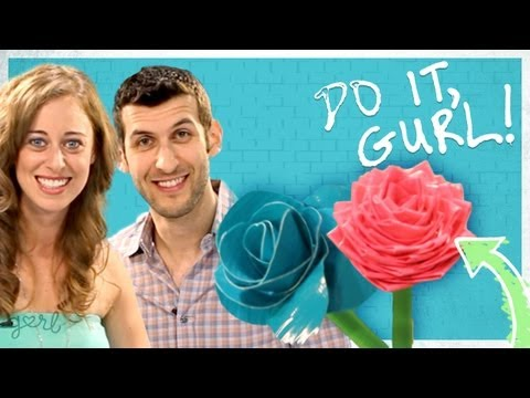 DIY Duct Tape Flower Pens (VidCon Edition w/ Ethan Fixell!)