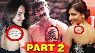 Bollywood Stars & The Secret Behind Their Tattoos - Part 2