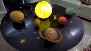 Science project, Solar System Model, School project, Jafirah, Class iii, BIT