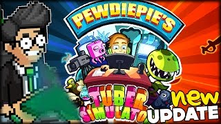 PIRATES VS NINJAS BRAND NEW UPDATE & PIXEL BLOCKS | New Pewdiepie's Tuber Simulator #35