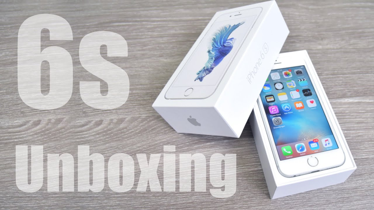 apple iphone 6s 64gb silber unboxing und erster eindruck youtube. Black Bedroom Furniture Sets. Home Design Ideas