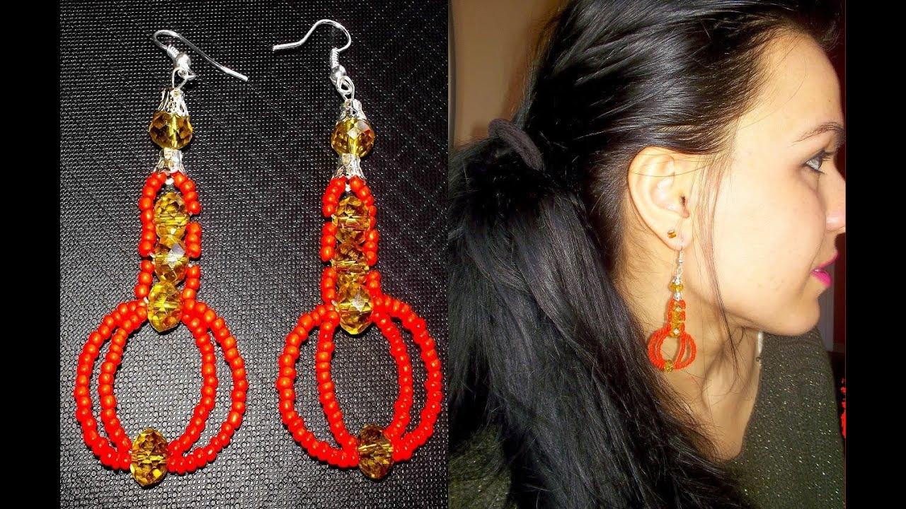 Favoloso TUTORIAL:Come realizzare orecchini con perline,cristalli e filo di  GD08