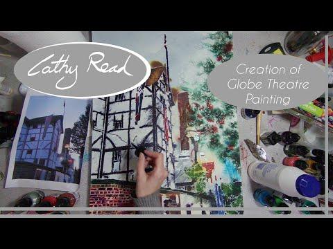 Globe Theatre - Architecture Painting in Progress