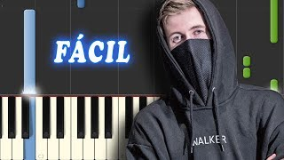 Faded - Alan Walker - FACIL - Piano Tutorial