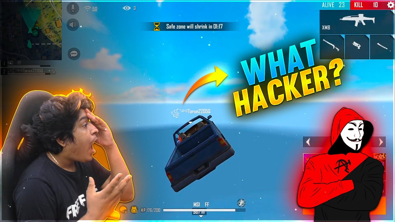 Hacker Flying Car What ?? | Banned Hacker ID | Garena Free Fire