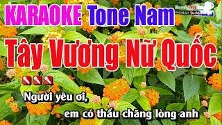 Tây Vương Nữ Quốc Karaoke | Lời Việt Tone Nam - Nhạc Sống Thanh Ngân