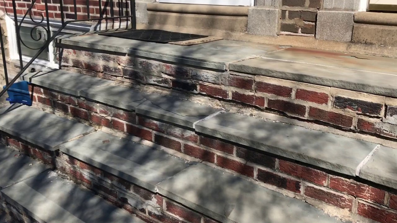 How We Fix Or Repair Brick Steps Concrete And Cement