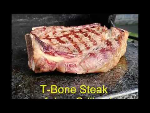 Grillstein Für Gasgrill : T bone steak auf dem grillstein aus granit youtube