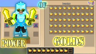POWER OF 999+ GOLDS In Bed Wars | Blockman Go Gameplay (Android , iOS)