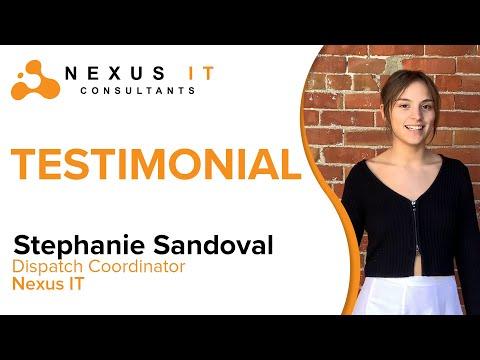 Nexus IT Testimonials: Stephanie Sandoval   Nexus IT Consultants  